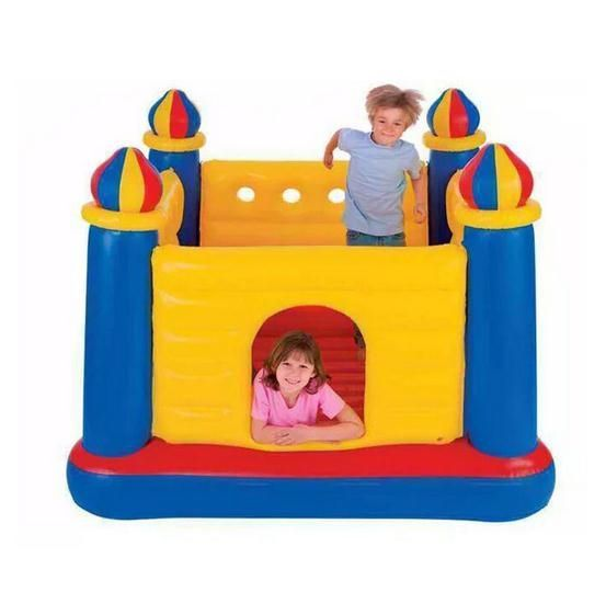 230.99$  Buy now - http://aliv9n.worldwells.pw/go.php?t=32604317253 - Square Inflatable trampoline tough PVC material kids indoor mini  trampolines 2016 children cama elastica jump equipment 230.99$