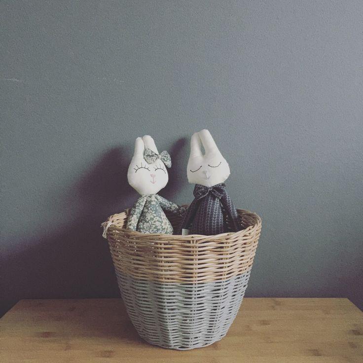 Numero74 small basket silver grey