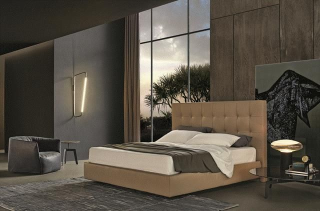 POLIFORM: Arca bed, Santa Monica armchair and Tribeca coffee tables