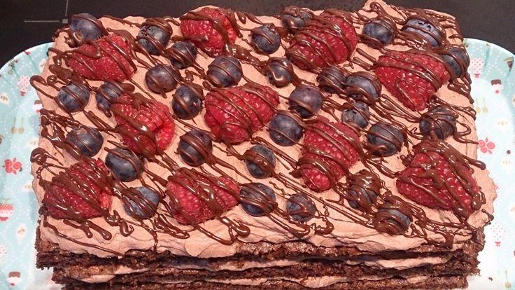 Gezondere chocoladecake met chocoladeroom | Cookies & Carrot Sticks