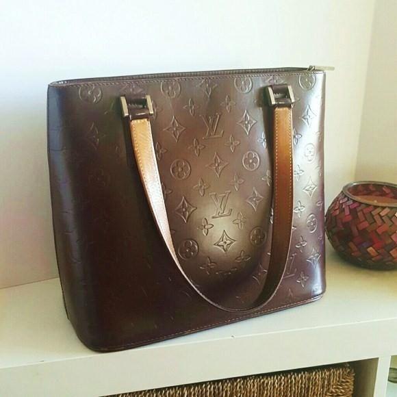 2264d00fce4d Louis Vuitton Stockton Mat Monogram Sale Plum Vernis Patent Leather Tote  71% off retail