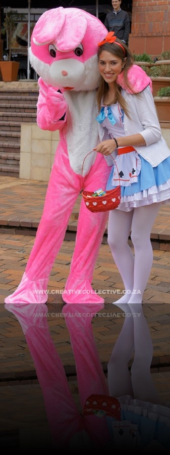 Alice in Wonderland with the Easter Bunny