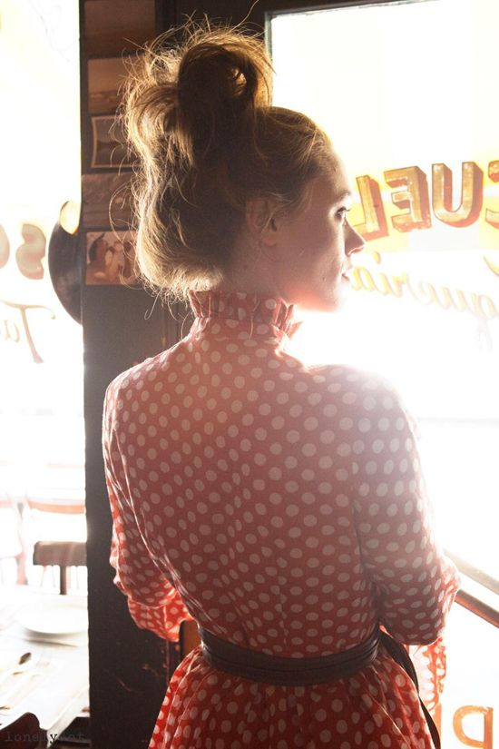 vintage frock / bun