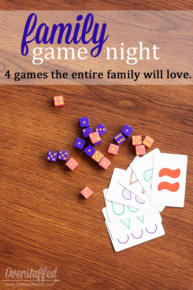 Four games that EVERYONE in the family will enjoy playing. Easy for little ones, but still fun for adults and teenagers.
