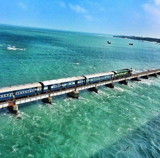 Pamban bridge , Rameswaram , India.