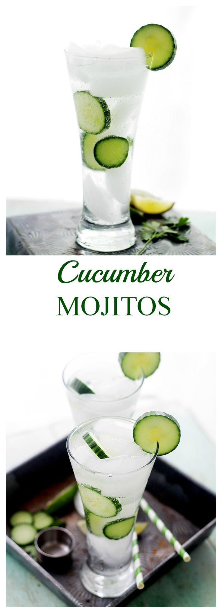 Cucumber Mojito | www.diethood.com | A delicious and refreshing twist on the classic mojito cocktail made with the addition of cucumbers. | #mojitos #stpaddy