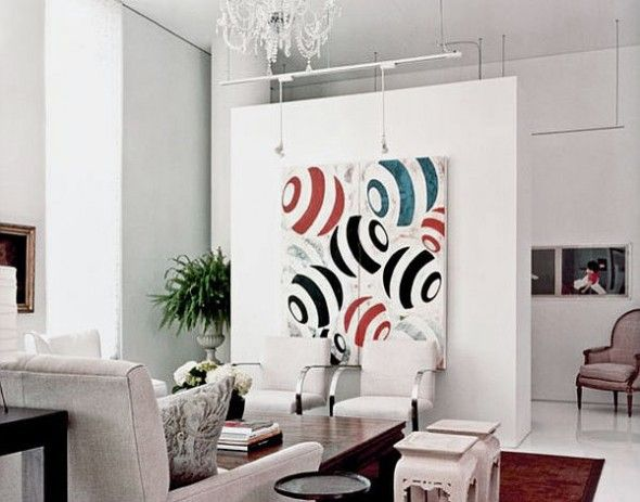 Insert Your TV into Your Home Decor: Hiding The TV with Beautiful Wall Art for Modern Living Room Decor