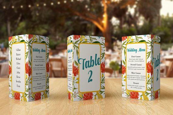 Wedding Menu Ideas  Wedding Place Cards  Script Table Number