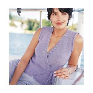Sleeveless Wrap Top Knitting Pattern