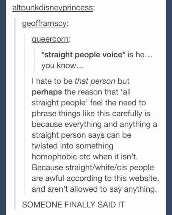 YES! People avoid discussion because of the hate and endless list of rules provided by Tumblrinas on how to speak and behave.