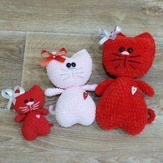 Котики амигуруми игрушки крючком