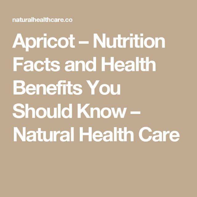 Apricot – Nutrition Facts and Health Benefits You Should Know – Natural Health Care