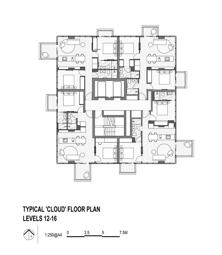 Image 15 of 18 from gallery of Upper House / Jackson Clements Burrows. Floor Plan