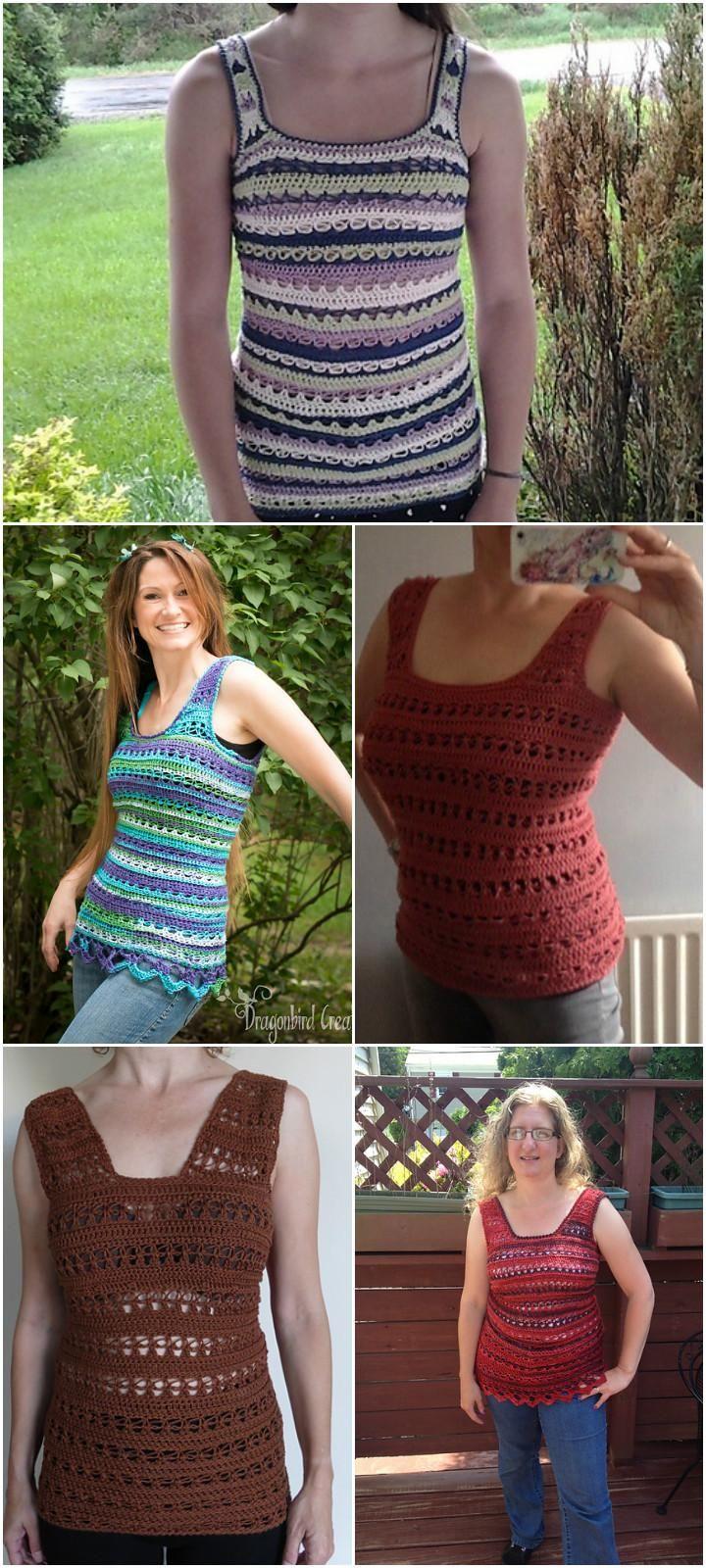 Crochet Summer Love Sleeveless Top - 50+ Quick & Easy Crochet Summer Tops - Free Patterns - DIY & Crafts