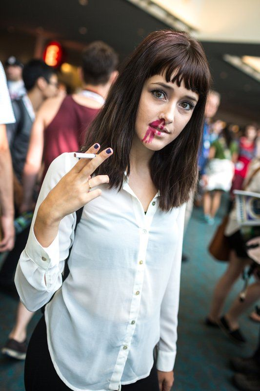 17 best images about mia wallace on pinterest models halloween costumes and cosplay - Deguisement pulp fiction ...