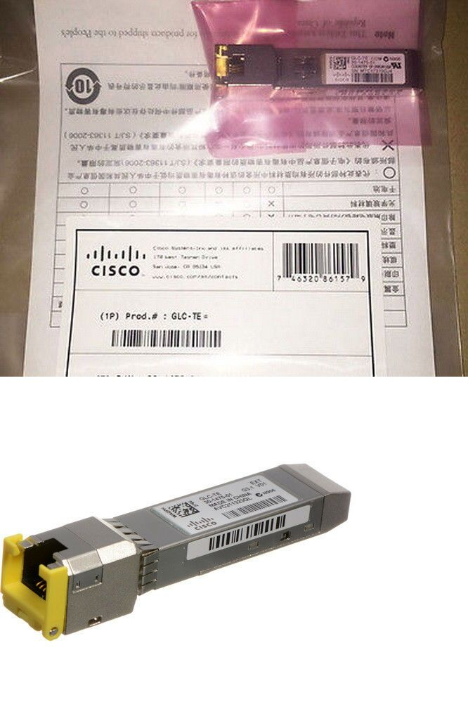 Enterprise Networking Servers 175698 Cisco Glc Te 1000base T Sfp Transceiver 30 1475 01 Nib Free Shipping Reg 272 Buy It Now Only 89 Cisco Ebay Rj45