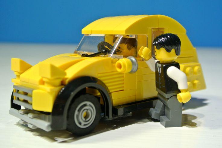 Yellow Lego Citroen 2CV