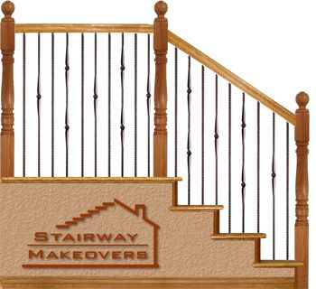 Gothic 1 Iron Baluster Pattern Chalet Stair Rail Iron