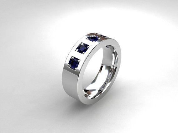 Men s blue sapphire wedding band  white gold  yellow gold  men s sapphire  ring Best 25  Modern mens wedding bands ideas on Pinterest   Men  . Modern Mens Wedding Band. Home Design Ideas