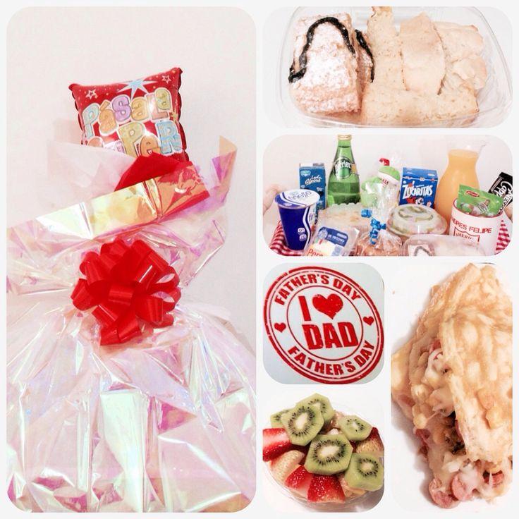 Una SoRpReSa Desayuno Especial.  Omelet de maícitos con ranchera y queso, Mix de panes, mug personalizado, agua mineral, jugo de naranja natural en jarra de vidrio, pastelito, queso pera, cereal, galletas, leche, yogurt, sobre de milo y capuchino, ensalada de frutas, peluche...   Pedidos:  (318) 385-1187 - (317) 636-3792 www.sorpresacali.com