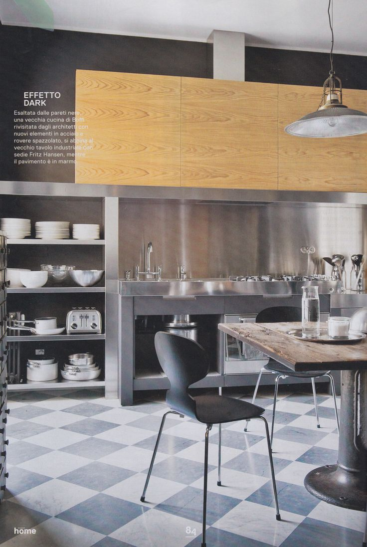 su Pavimento A Scacchi su Pinterest  Cucine vintage, Cucine vintage e ...