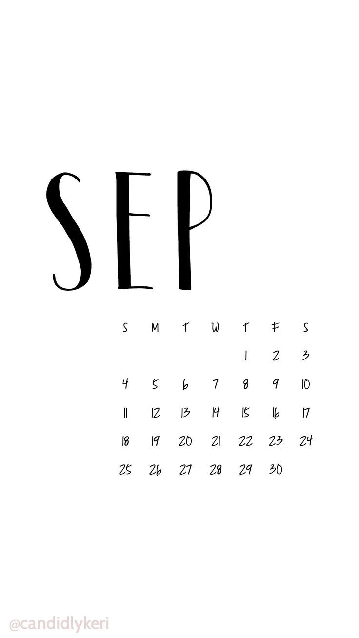 Black And White Script September Calendar 2016 Wallpaper You Can Download  For Free On The Blog