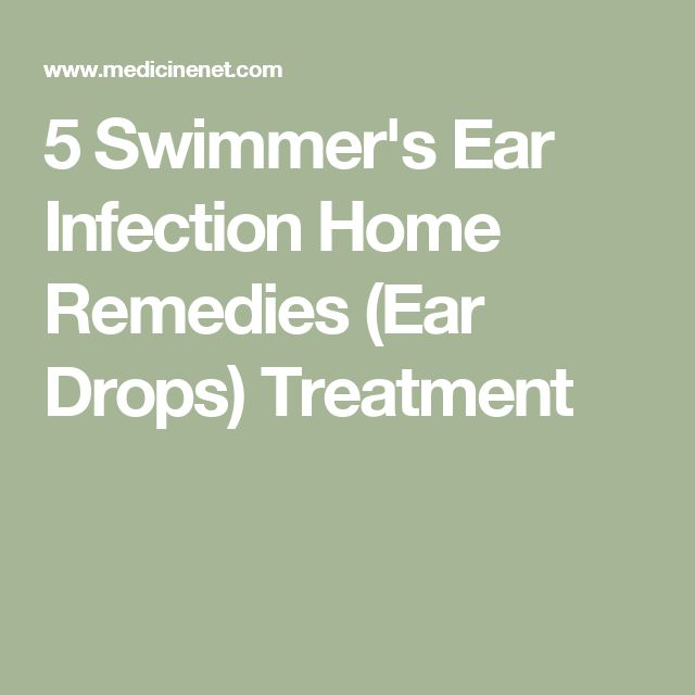 5 Swimmer's Ear Infection Home Remedies (Ear Drops) Treatment