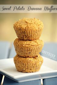 Sweet Potato Banana Muffins - Healthy, Gluten Free, Low Fat, Vegan