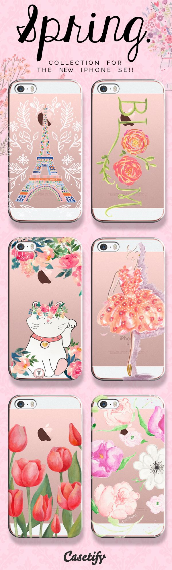 pinterest: @jaidyngrace Take a look at our Spring collection for the new iPhone SE!! | @casetify