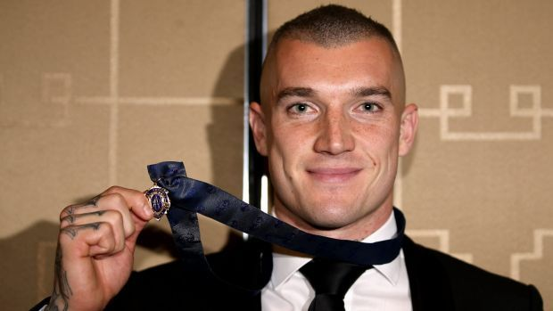 Dustin Martin and his Brownlow Medal.