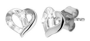 14 karaat witgouden diamanten oorbellen (1021440)