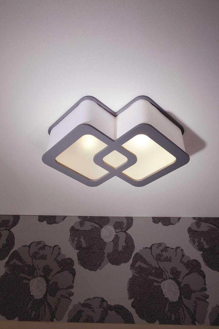 geometryczny plafon do nowoczesnego wnętrza #plafon #oświetlenie #obi #obipolska #inspiracja #geometrycznie