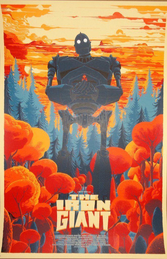 Kilian Eng The Iron Giant Poster Print Mondo Artist | eBay