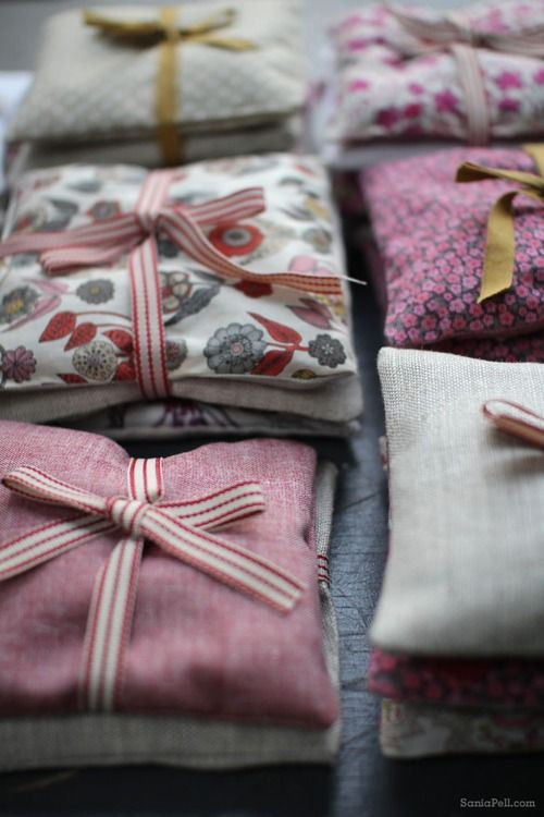 Lavender bags made by Sania Pell