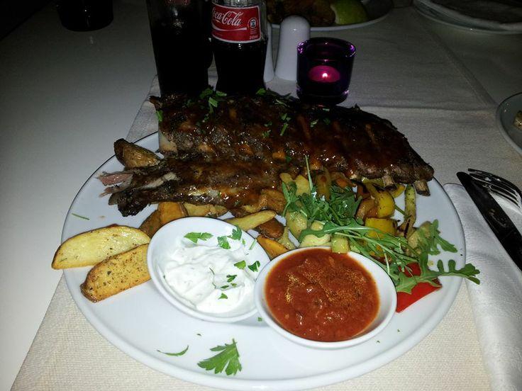 barbecue ribs, theodosi restaurant, chania, crete