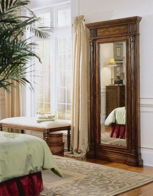 Hooker Furniture Accessories Floor Mirror W/Jewelry Armoire Storage