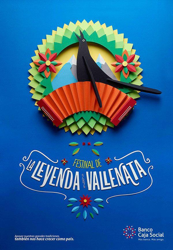 Fiestas y tradiciones colombianas BCS on Behance #handmade #design #paper craft