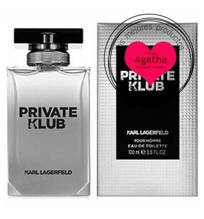 Perfume de hombre Karl Lagerfeld Private Klub Pour Homme Eau de Toilette 100 ml.