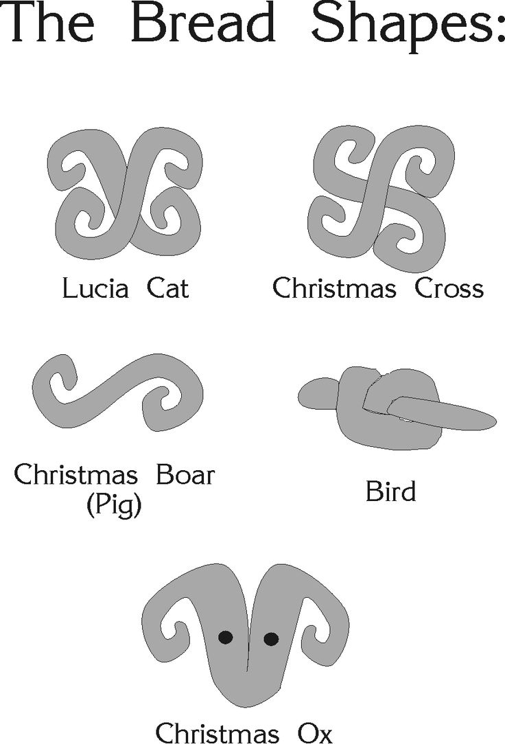 Santa Lucia bread shapes/ swedish santa lucia day december 13th.
