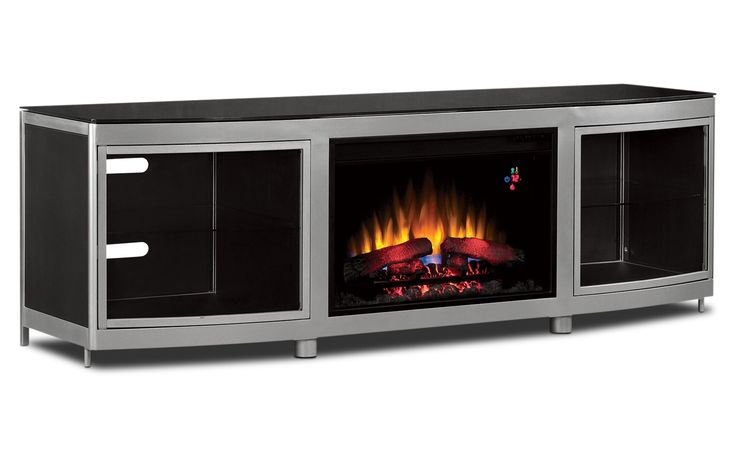Gotham Entertainment Wall Units Fireplace Credenza - Leon's