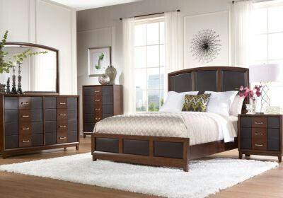 sofia vergara collection cherry brown bedroom set sofia vergara