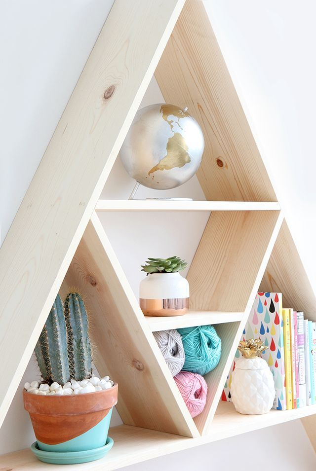 I SPY DIY STUDIO | Triangle Shelves
