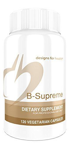 Designs for Health - B-Supreme B Vitamin Combination Formula, 120 Vegetarian Capsules //Price: $43.85 & FREE Shipping //     #hashtag3