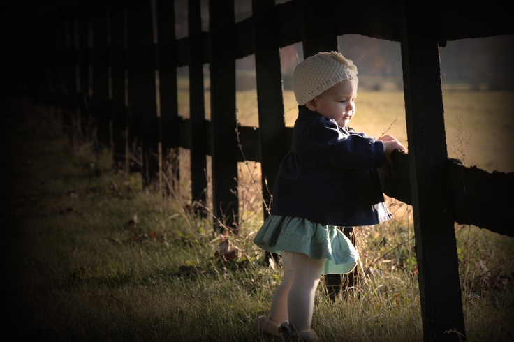 9 month baby picture idea-Fence Photo by Marie Doctor