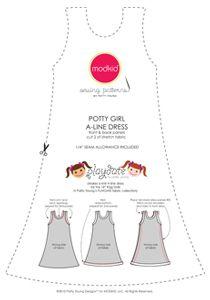 """18"""" A-line dress pattern.  Free pdf download."""