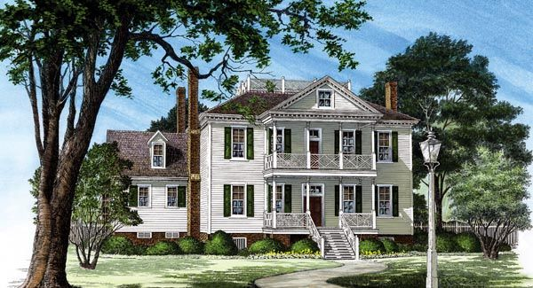 Colonial plantation house plan 86252 cars house plans for Historic plantation house plans