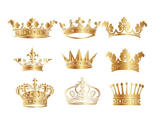 Gold Crown Clip Art Crown Clipart Digital Crown By