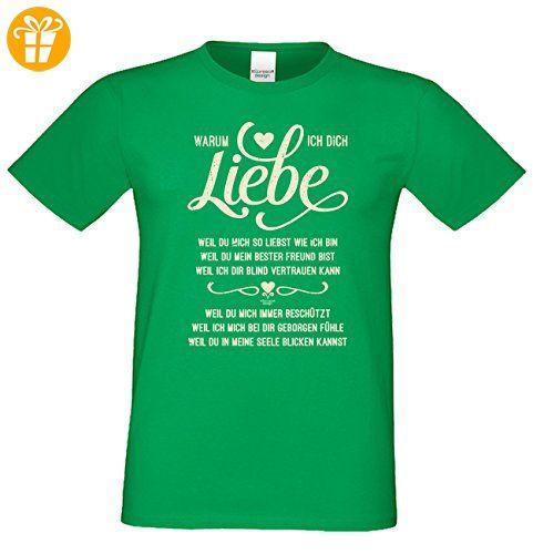 Geschenkidee Valentinstag Geburtstag Vatertag Weihnachten :-: Herren kurzarm Sprüche T-Shirt :-: Warum ich Dich liebe :-: Papa Vater Eheman Freund für Ihn :-: Farbe: hellgrün Gr: S (*Partner-Link)