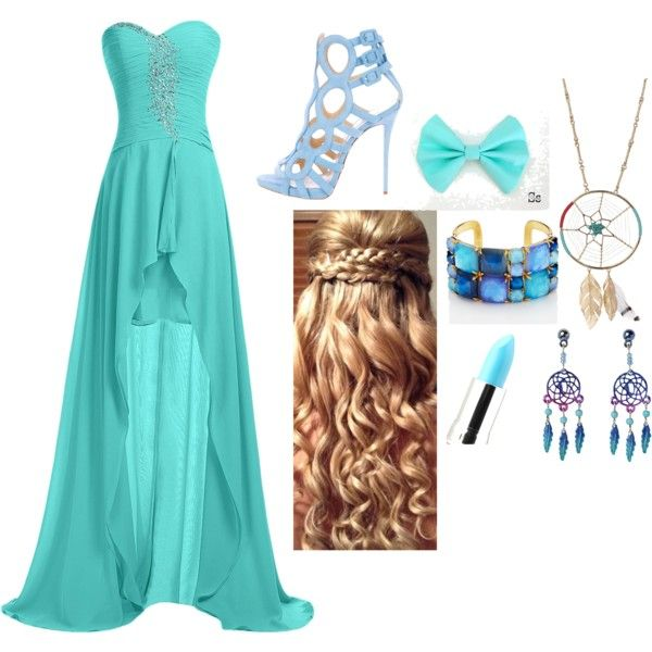 Prom - By The Sea by matisse-davies on Polyvore featuring Giuseppe Zanotti, Kate Spade, Aurélie Bidermann and Lime Crime