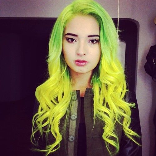 Green and Yellow Hair